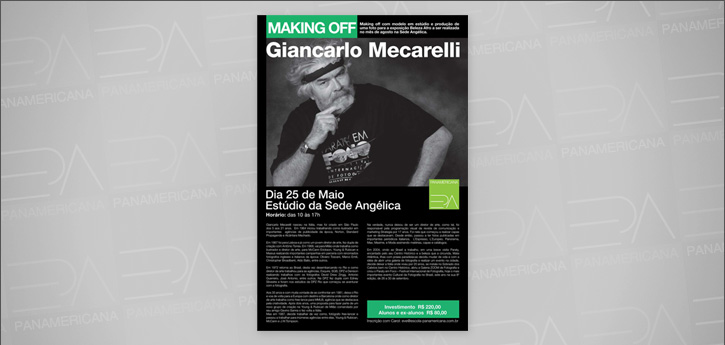 Making-off com Giancarlo Mecarelli