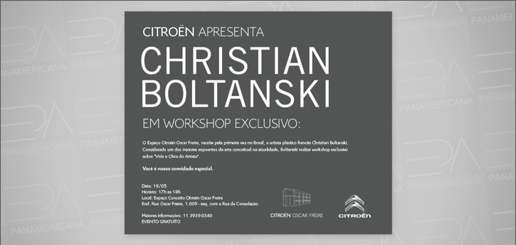 Workshop com artista francês Christian Boltanski